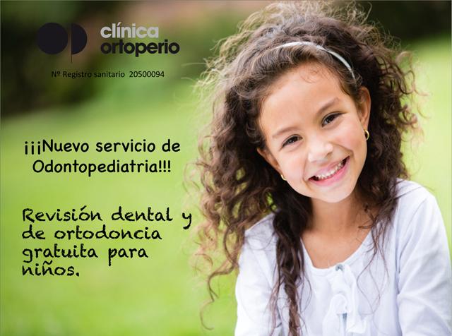 ¡¡¡Nuevo servicio de Odontopediatria!!!! Revisión dental y de ortodoncia gratuita para niños 1