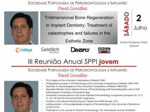 Curso del Dr. David González en III Reunión Anual SPPI Joven de la Sociedade Portuguesa de Parodontología e Implantes