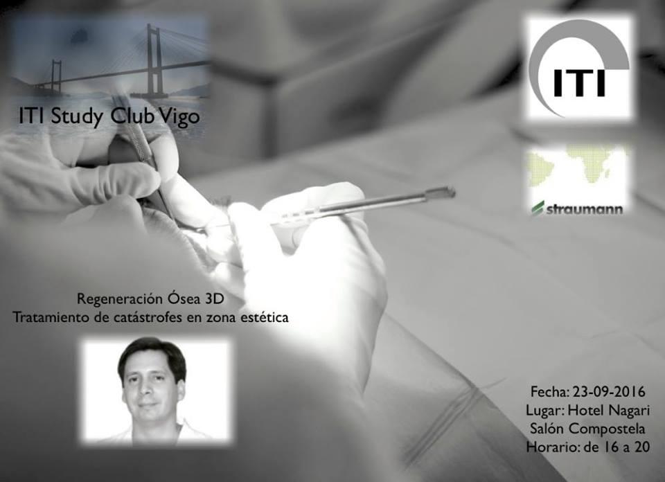 El Dr. David González impartiendo conocimientos de ROG 3D en el ITI Study Club de Vigo 3