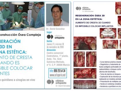 Curso de Regeneración Ósea 3D impartido por el Dr David González