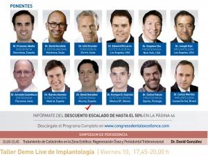 El Dr. David González en el II Congreso Internacional Dental Excellence