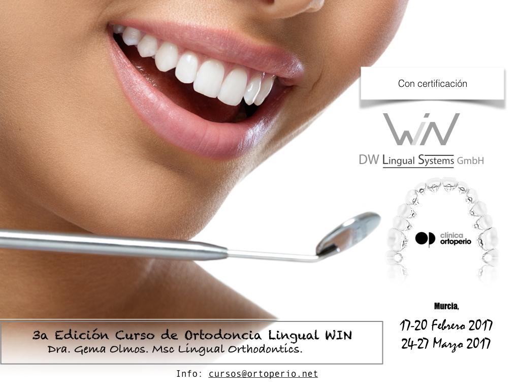 3ª Edición Curso Intensivo de Ortodoncia Lingual WIN 1
