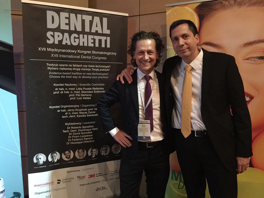 Conferencia del Dr. David González en el prestigioso congreso Dental Spaghetti que se celebra anualmente en Cracovia, Polonia. 10 de marzo de 2018. 1