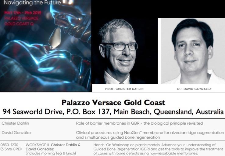 Nuestro director, el Dr. David González ha impartido un curso sobre Regeneración ósea en Implantes en Brisbane, Australia 1